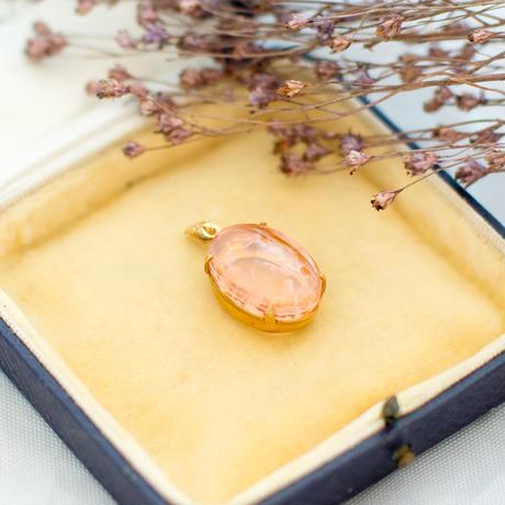 ヴィンテージアクセサリーパーツ レミース|ことりと薔薇のペンダント ロザリン