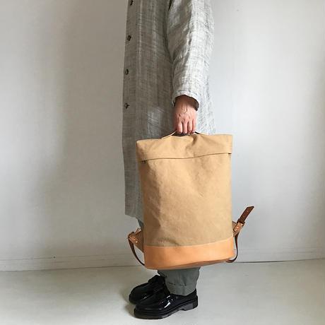 am|革底リュック ベージュ 【受注商品:8月中発送】