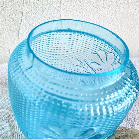 houti|プレスガラス キャンディーポット
