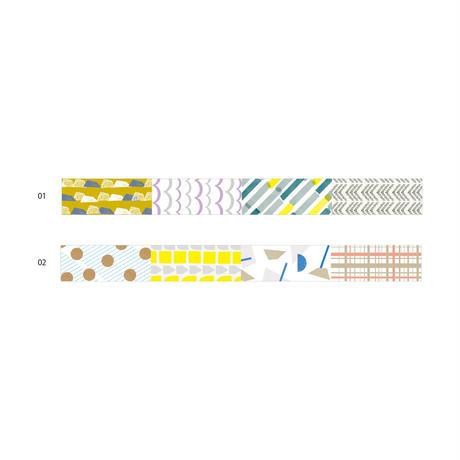 【6月号掲載分】水縞 【新商品】マスキングテープ カルテット 2種セット