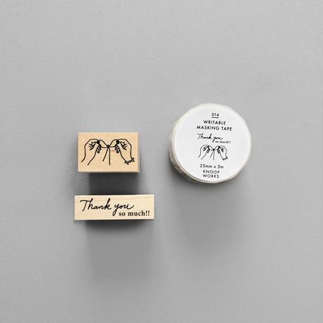 KNOOPWORKS |蝶結びスタンプとお揃いマスキングテープの3点セット