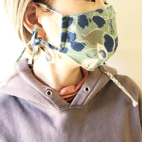 YUMI YOSHIMOTO マスクケース付き、ボタニカル柄マスク
