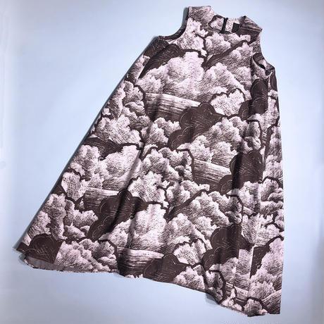 【8月号掲載分】YUMI YOSHIMOTO| 雲柄ノースリーブドレス White