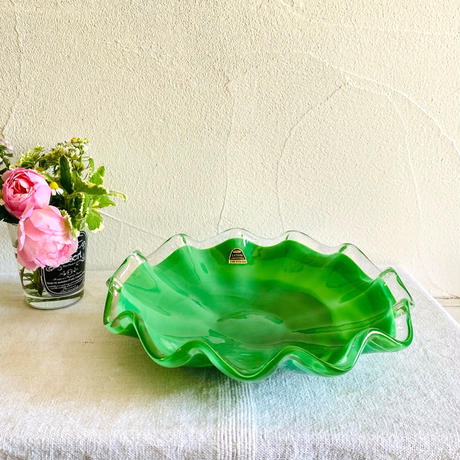 【6月号掲載分】houti|クラタクラフト グリーンガラス皿
