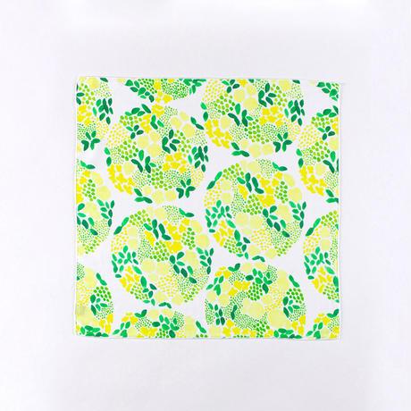 KAYO AOYAMA|ガーゼハンカチ flower ball / yellow