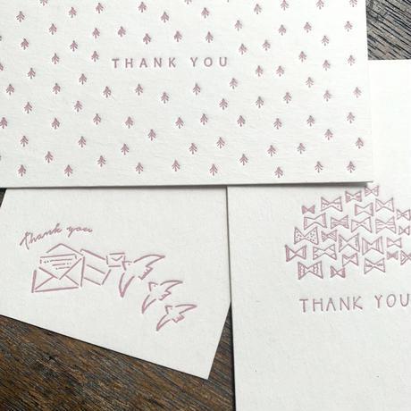 【9月号掲載分】大枝活版室|【活版印刷】限定色 / Thank you card box 浅紫(カード7種アソート30枚入り)