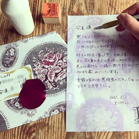 【9月号掲載分】オソブランコ|Rose thin paperpadセット