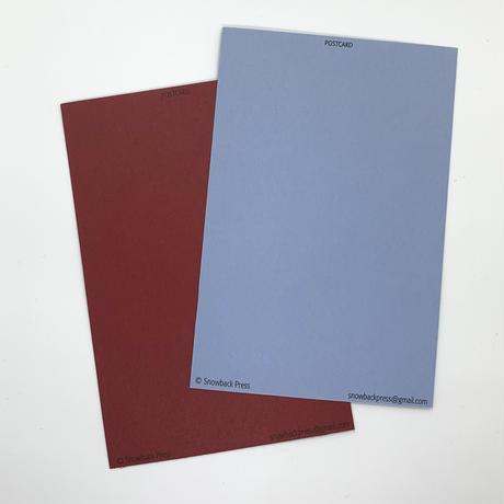 西荻ペーパートライ The Snowback Press   CutItOut!Cards ポストカードセットC(2枚組)