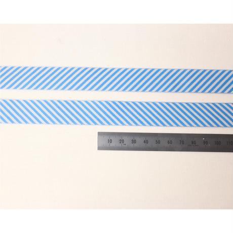 レピヤンリボン まんまる猫/ブルー×ボーダー/サイダー21mm セット( 各1m)