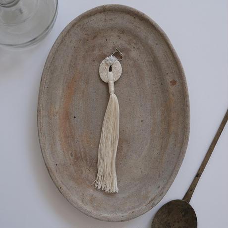 【6月号掲載分】harishigoto 白い種/芒種・片耳の耳飾りE