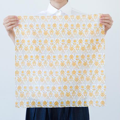 十布 インドのブロックプリント ハンカチ バローダの花 イエロー