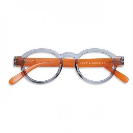 krone Have A Lookリーディンググラス CIRCLE TWIST grey/orange +2.0、+3.0