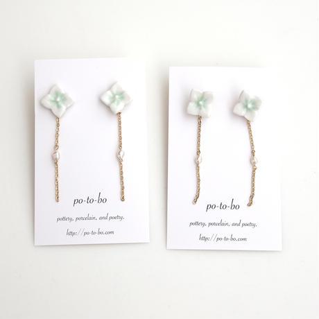 【5月号掲載分】po-to-bo|月刊手紙舎限定色・紫陽花と雨の耳飾り