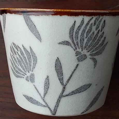 kinoki pottery|陶小町/蕎麦猪口(野花二枝)