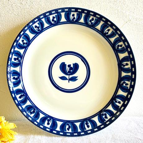 【6月号掲載分】houti|白地にブルーの素敵な柄 プレート