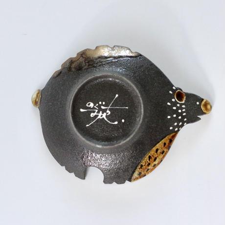みかガマ 17クマやん黒豆皿