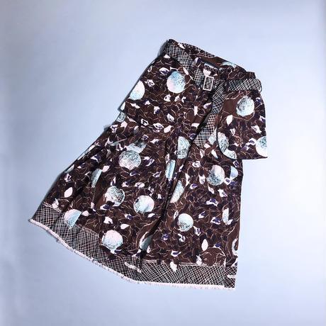 """【8月号掲載分】YUMI YOSHIMOTO  """"Holiday harvest"""" textile Brown 50cm"""