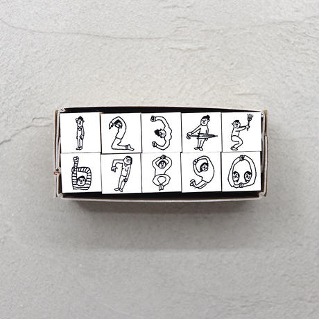 36 Sublo (サブロ)|ほしのしほ 人 数字 ハンコ セット 【受注商品:8月中発送】