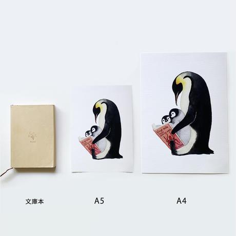 小林マキ |ジクレープリント コウテイペンギン(横)A5