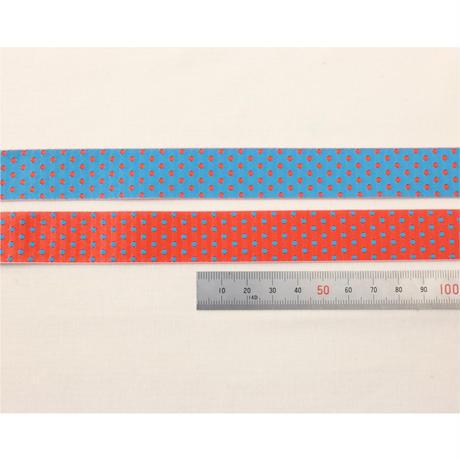 レピヤンリボン|まんまる猫/レッド×ドット/レッドブルー21mm セット( 各1m)