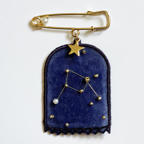 patterie STAR DOME BROOCH- 天秤座【受注商品:12月中発送】
