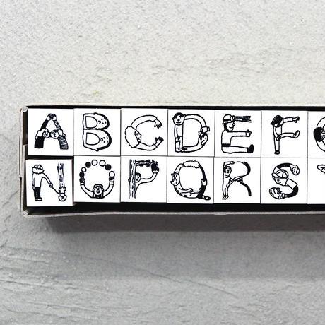 36 Sublo (サブロ)|ほしのしほ 人 アルファベット ハンコ セット
