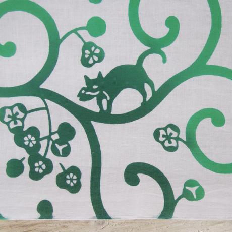 とことわ|注染手拭い 「どろぼう猫」緑