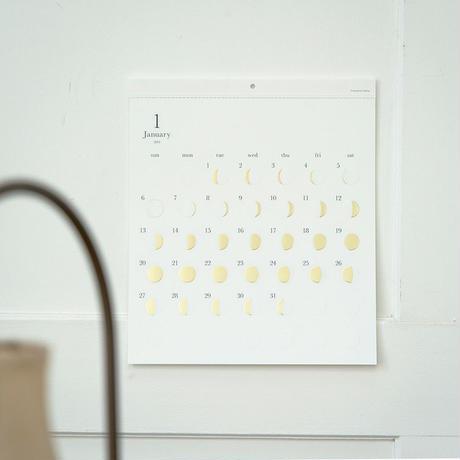 Replug|2022年 月の満ち欠けカレンダー「ミチルkira」