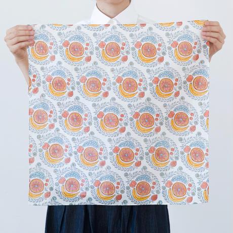 十布 インドのブロックプリント ハンカチ フルーツ カラフル