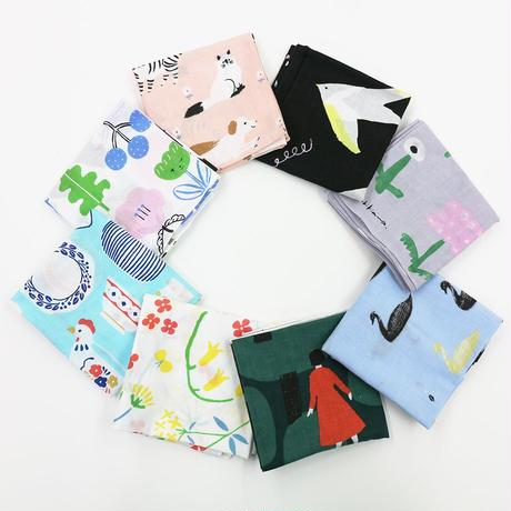 表現社 cozyca products 【21秋の新作】西淑 和ざらしハンカチ swan