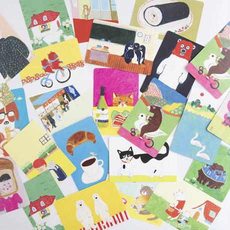 柴田ケイコ お楽しみ紙雑貨セット(お楽しみメモ+よしえさんメモ+お楽しみポストカード2枚)