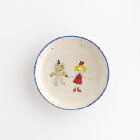 松浦ナオコ 9女の子と熊の豆皿