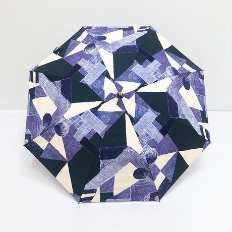 【6月号掲載分】YUMI YOSHIMOTO KESHIKI 晴雨兼用折りたたみ傘 asa no yama purple