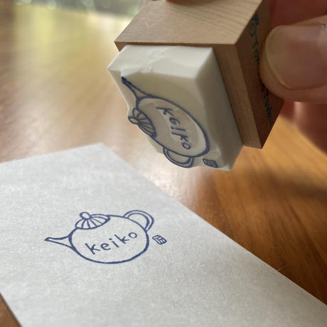 象夏堂/津久井智子 オーダーはんこ [ Pot ] 【受注商品:8月中発送】