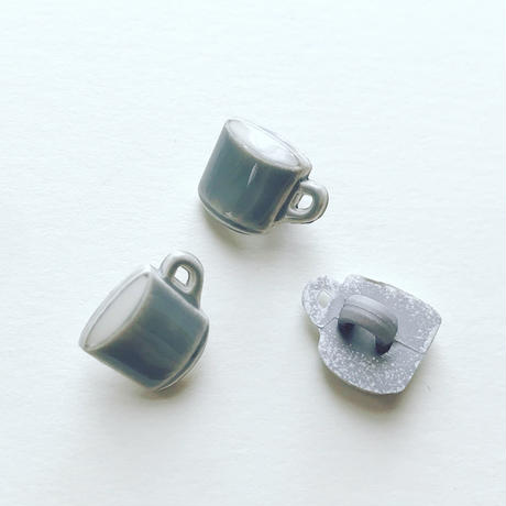 イドラ|ボタンセット・コーヒーカップ(グレー)
