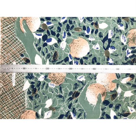 "YUMI YOSHIMOTO  ""Holiday harvest"" textile Green 50cm"