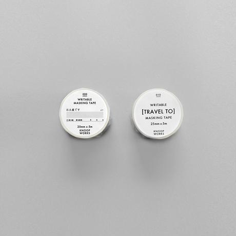 KNOOPWORKS|旅行ラベルとお土産ですマスキングテープの2本セット