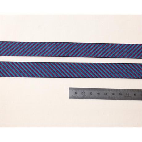 レピヤンリボン 葉っぱ/ウォーター×ドット/ブルー グレープ21mm セット( 各1m)