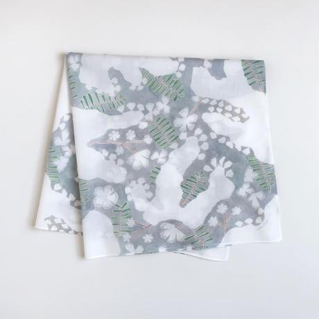 【6月号掲載分】H/A/R/V/E/S/T TEXTILE/DESIGN ハンカチ snowflower