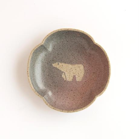 【7月号掲載分】苔色工房 田中遼馬|5よつは小皿グラデーション シロクマ