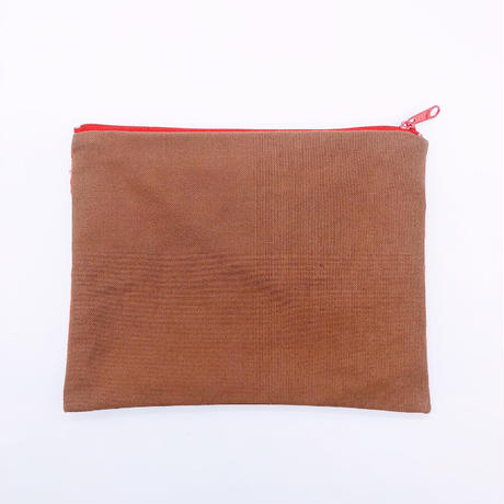 LIFE AND BOOKS VINTAGE FABRIC POUCH (L)7-10