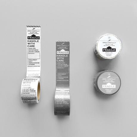 【8月号掲載分】KNOOPWORKS|FRAGILEマスキングテープの色違い2個セット
