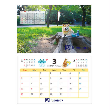 名入れ卓上カレンダー20部セット