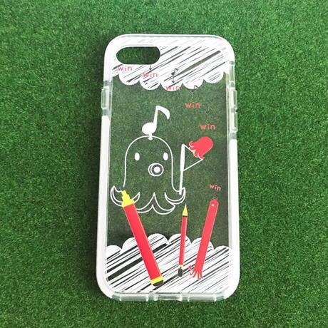iPhone 7/8 *クッションバンパーケース *たこさんwinなー2*ボクはペン
