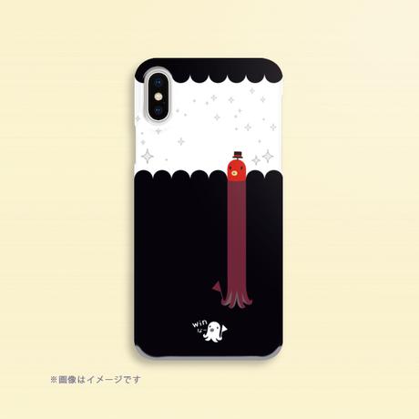 A*クリアハードケースiPhone X/XS/8/7/6/5/5s/SE*たこさんwinなーの雑踏D_キラキラ*