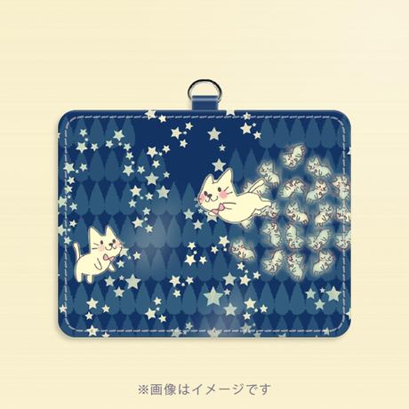 【パスケース】月光雨のねこ