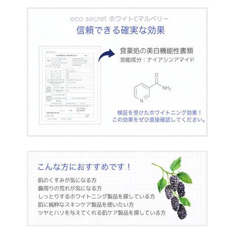 【eco secret】ホワイトCマルベリースキン