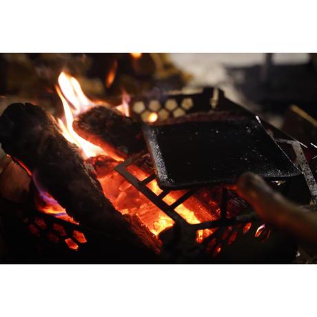 【取っ手を自分で作る鉄板】Frying iron 3.2t wide(フライアンワイド3.2mm厚)※取っ手は付いていません