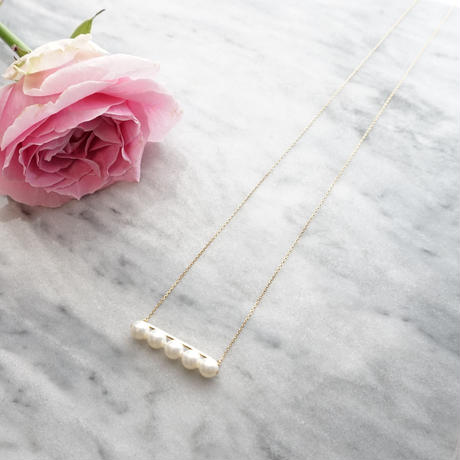 Balance pearl necklace/gold