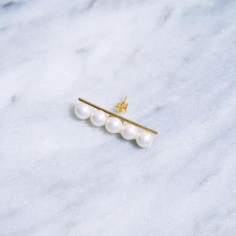 Balance pearl Earring・Pierce/gold
